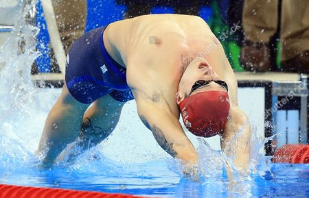 Chris Walker-Hebborn of Great Britain wins Silver in the Men's 4x100m Medley Relay Final on Day 8 of the Rio 2016 Olympic Games at the Olympic Aquatics Stadium on August 13, 2016 in Rio de Janerio, Brazil.  (Photo by Vaughn Ridley/SWpix.com)