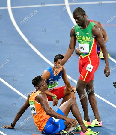 Grenada's Kirani James wins a men's 400-meter semifinal during the athletics competitions of the 2016 Summer Olympics at the Olympic stadium in Rio de Janeiro, Brazil