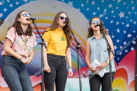 Stock Picture of The Staves - Emily Staveley-Taylor, Jessica Staveley-Taylor and Camilla Staveley-Taylor
