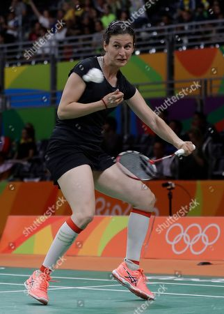 Linda Zetchiri Bulgaria's Linda Zetchiri returns a shot to Switzerland's Sabrina Jaquet during a Women single match at the 2016 Summer Olympics in Rio deJaneiro, Brazil
