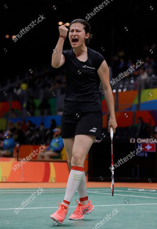 Linda Zetchiri Bulgaria's Linda Zetchiri celebrates after scoring a point to Switzerland's Sabrina Jaquet during a Women single match at the 2016 Summer Olympics in Rio deJaneiro, Brazil