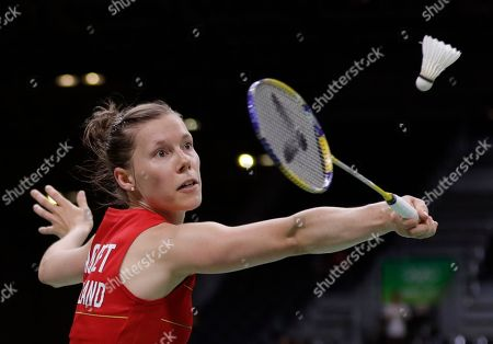 Sabrina Jaquet Switzerland's Sabrina Jaquet returns a shot to Bulgaria's Linda Zetchiri during a Women single match at the 2016 Summer Olympics in Rio deJaneiro, Brazil