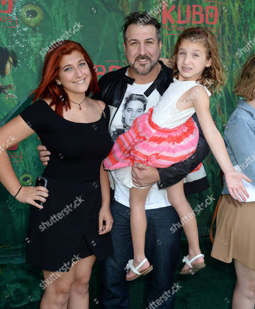Stock Image of Joey Fatone, daughters Briahna Fatone and Kloey Fatone