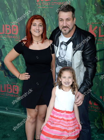 Joey Fatone, daughters Briahna Fatone and Kloey Fatone
