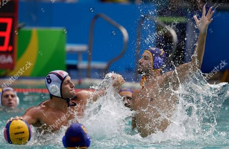 Editorial picture of Rio 2016 Olympic Games, Water Polo, Brazil - 12 Aug 2016