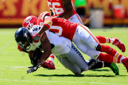 Steven Nelson, Doug Baldwin Seattle Seahawks wide receiver Doug Baldwin (89) is tackled by Kansas City Chiefs defensive back Steven Nelson (20) during the first half of an NFL preseason football game in Kansas City, Mo