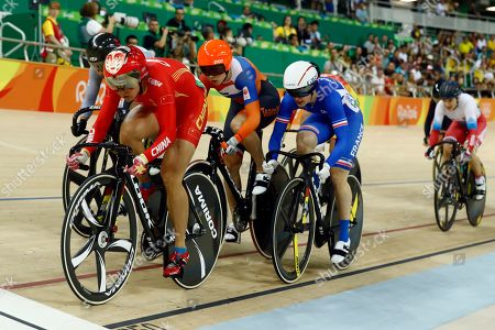 Gong Jinjie Gong Jinjie of China, left, leads in the Women's Keirin first round at the Rio Olympic Velodrome during the 2016 Summer Olympics in Rio de Janeiro, Brazil