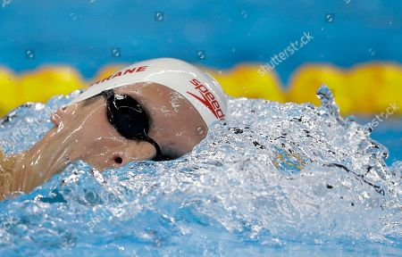 Canada's Ryan Cochrane competes during a men's 1500 metre freestyle heat