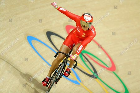 Jinjie Gong Jinjie Gong of China celebrates after winning gold with teammate Tianshi Zhong in the Women's team sprint finals at the Rio Olympic Velodrome during the 2016 Summer Olympics in Rio de Janeiro, Brazil