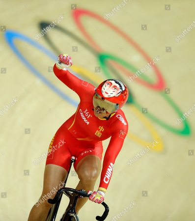 Tianshi Zhong Tianshi Zhong of China celebrates after setting a world record with teammate Jinjie Gong in the Women's team sprint first round at the Rio Olympic Velodrome during the 2016 Summer Olympics in Rio de Janeiro, Brazil