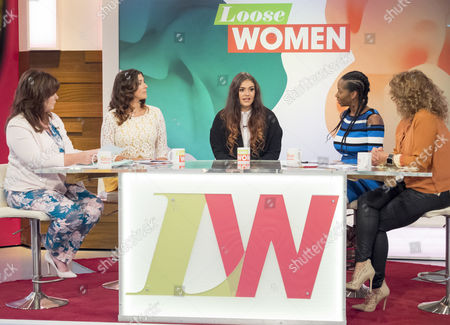 Stock Picture of Coleen Nolan, Kym Marsh, Emily Mae Cunliffe, Jamelia and Nadia Sawalha.
