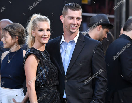 Stock Image of Heather Morris and Taylor Hubbell