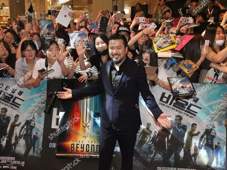 """Justin Lin Director Justin Lin poses during a promotional event for his latest film """"Star Trek Beyond"""" in Seoul, South Korea,. The film be released in South Korea on Aug. 18"""