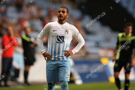 Coventry City forward Marcus Tudgay (20)  during the EFL Sky Bet League 1 match between Coventry City and Bury at the Ricoh Arena, Coventry
