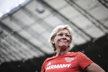 Silvia Neid, coach from Germany during the game for the first round Semi-Final in Rio 2016 at Mineirao Stadium, Belo Horizonte, Brasil