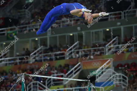 United States' Danell Leyva in action on the horizontal bar during the artistic gymnastics men's apparatus final at the 2016 Summer Olympics in Rio de Janeiro, Brazil, Tuesday, Aug. 16, 2016.