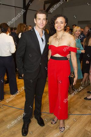 Andy Karl (Phil Connors) and Carlyss Peer (Rita Hanson)