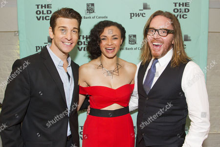Andy Karl (Phil Connors), Carlyss Peer (Rita Hanson) and Tim Minchin (Music/Lyrics)