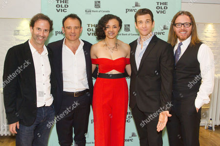 Danny Rubin (Author), Matthew Warchus (Director), Carlyss Peer (Rita Hanson), Andy Karl (Phil Connors) and Tim Minchin (Music/Lyrics)