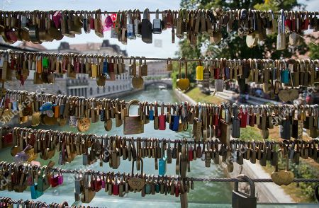 Padlocks left by couples hang at a bridge in downtown Ljubljana, Slovenia. Over the past two decades since Melanija Knavs, who later changed her name to Melania Knauss, left her native Slovenia and married American billionaire Donald Trump after pursuing an international modeling career, Ljubljana has turned from a gray and drab place with almost no night life, into a lively and picturesque city filled with restaurants, cafes and night clubs packed with foreigners