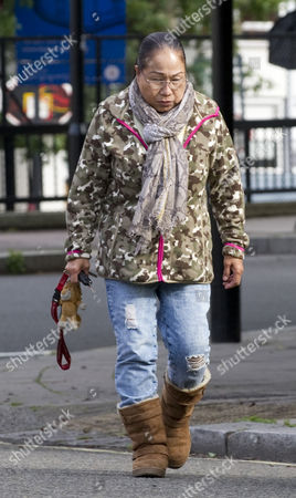 Stock Picture of Myra Ling-ling Forde 67 Near Her Home In Kilburn Nw London. She Operated A Brothel From Her Home In Salisbury Wiltshire And She Had Allegedly Threatened To Expose Sir Edward Heath As A Paedophile She Was Found Guilty Of Brothel-keeping In 2009.