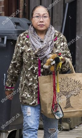 Editorial picture of Myra Ling-ling Forde 67 Near Her Home In Kilburn Nw London. She Operated A Brothel From Her Home In Salisbury Wiltshire And She Had Allegedly Threatened To Expose Sir Edward Heath As A Paedophile She Was Found Guilty Of Brothel-keeping In 2009.