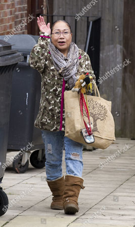 Stock Photo of Myra Ling-ling Forde 67 Near Her Home In Kilburn Nw London. She Operated A Brothel From Her Home In Salisbury Wiltshire And She Had Allegedly Threatened To Expose Sir Edward Heath As A Paedophile She Was Found Guilty Of Brothel-keeping In 2009.