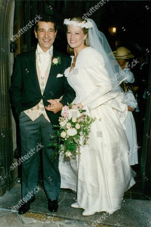 Stock Image of Wedding Of Actors Tony Anholt And Tracey Childs. Box 688 12605168 A.jpg.