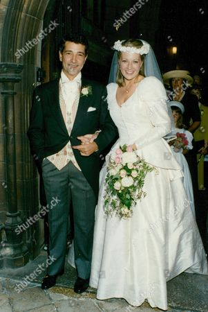 Editorial photo of Wedding Of Actors Tony Anholt And Tracey Childs. Box 688 12605166 A.jpg.