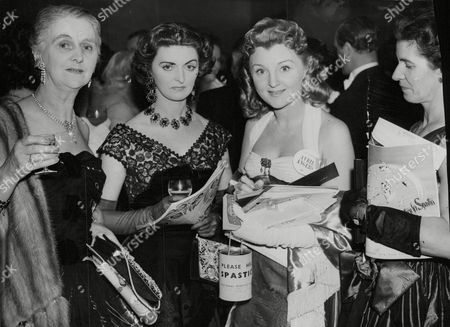 Actress Avril Angers At A Christmas Ball In Aid Of The National Spastics Society (now Called Scope) With Her Cousin Irene Angus And Aunt Mrs John Angus. Box 688 426051638 A.jpg.