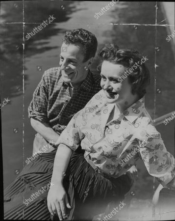 Actor Hugh Paddick And Actress Gene Anderson On A Canal Boat In Little Venice London. Box 690 90106164 A.jpg.