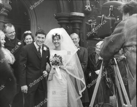 Actors Robert Arnold And Zeph Gladstone Filming A Marriage Scene For The Tv Programme: Dixon Of Dock Green. Box 692 609061621 A.jpg.