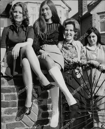 Stock Picture of L-r: Gail Atkinson Cynthia Cahill Karen Binnington And Anne Catchpole. Gail And Cynthia Who Appeared In A Five Minute Nude Film Written And Produced By Rev. Cyril Carter Who The Decided Not To Show It. Box 693 1129061663 A.jpg.