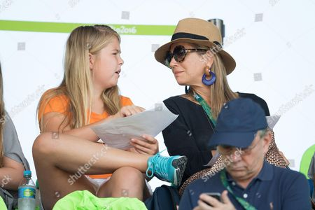 Crown Princess Catharina-Amalia and Queen Maxima of The Netherlands attend round 2 of the Equestrian Jumping team event