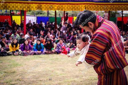The Gyalsey, Prince Jigme Namgyel Wangchuck with his Majesty King Jigme Khesar Namgyel Wangchuck visitng Bumthang