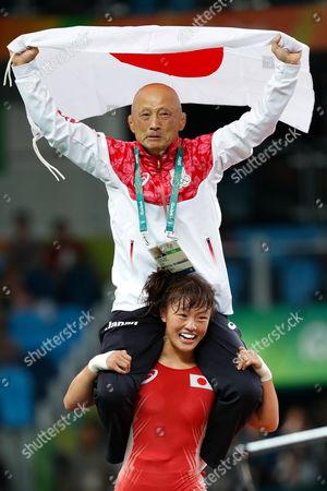 Eri Tosaka,  Kazuhito Sakae (JPN) - Wrestling :  Women's Freestyle 48kg Final