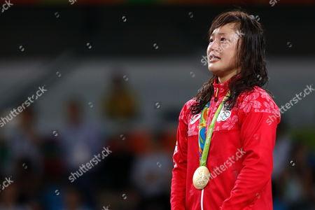 Eri Tosaka (JPN) - Wrestling :  Women's Freestyle 48kg Medal Ceremony
