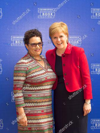 Nicola Sturgeon and Jackie Kay