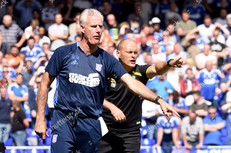Manager of Norwich City, Alex Neil and Manager of Ipswich Town, Mick McCarthy- Ipswich Town v Norwich City, Sky Bet Championship, Portman Road, Ipswich - 21st August 2016.- Ipswich Town v Norwich City, Sky Bet Championship, Portman Road, Ipswich - 21st August 2016.