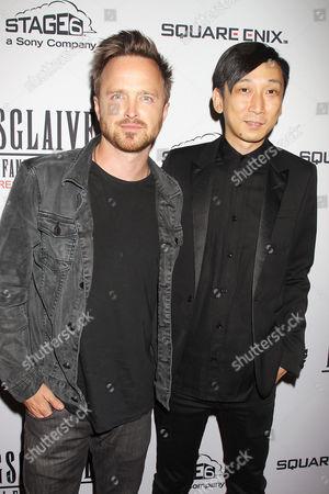 Aaron Paul and Takeshi Nozue