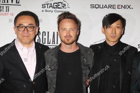 Yosuke Matsuda, Aaron Paul and Takeshi Nozue