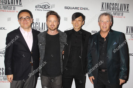 Yosuke Matsuda, Aaron Paul, Takeshi Nozue and John Graham