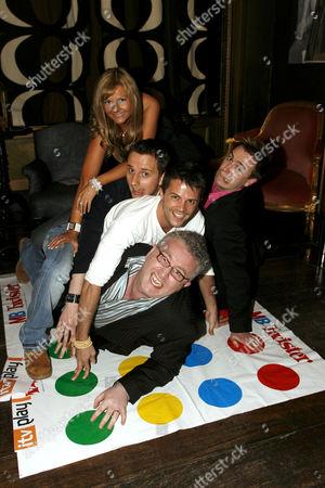 Play Channel presenters Debbie King, Chuck Thomas, Lee Baldry, Greg Scott (Glasses) and Nigel Mitchell (Pink Shirt)