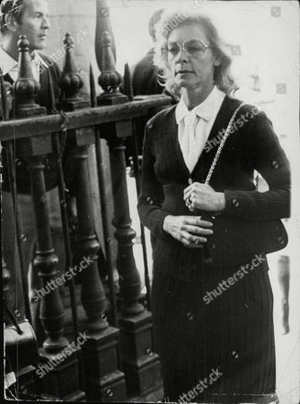 Lauren Bacall Actress At Actor Jack Hawkins Memorial Service. Box 695 1005071650 A.jpg.