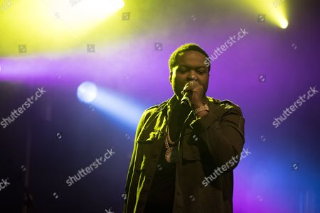 Stock Photo of The Jamican-American singer, songwriter and rapper Sean Kingston performs a live concert at the Faroese music festival Torsfest 2016 in Torshavn. Faroe Islands, 23/07 2016.