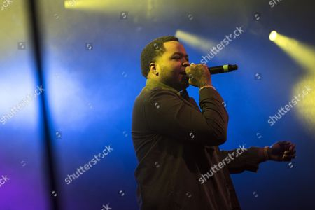 Stock Image of The Jamican-American singer, songwriter and rapper Sean Kingston performs a live concert at the Faroese music festival Torsfest 2016 in Torshavn. Faroe Islands, 23/07 2016.