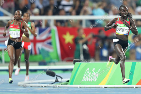 Vivian Jepkemoi Cheruiyot during Women's 5000m the athletics competitions of the 2016 Summer Olympics at the Olympic stadium in Rio de Janeiro, Brazil, Friday, Aug. 19, 2016