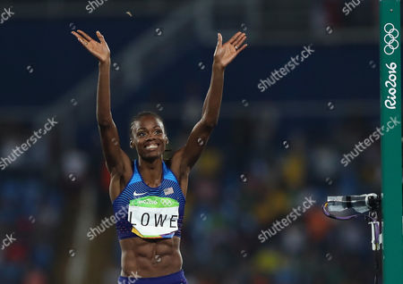 United States' Chaunte Lowe competes in the women's high jump final, during the athletics competitions of the 2016 Summer Olympics at the Olympic stadium in Rio de Janeiro, Brazil