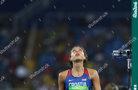 Croatia's Blanka Vlasic competes in the women's high jump final, during the athletics competitions of the 2016 Summer Olympics at the Olympic stadium in Rio de Janeiro, Brazil