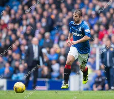 Niko Kranjcar of Rangers single action during the match between Rangers and Motherwell at Ibrox Stadium, Glasgow on 20th August